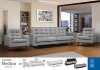 Набор мебели MEDINA 3+1+1