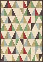 Ecofloor Farashe (393C496340) Kaleidoscope of Multicolored Triangles 1.60x2.30m