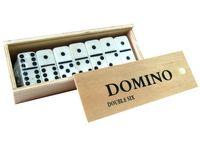 Игра домино в деревянной коробке c