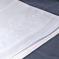Скатерть льняная белая 150 * 250 см.