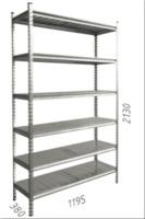 купить Стеллаж металлический с металлической плитой 1195x380x2130 мм, 6 полок/MB в Кишинёве