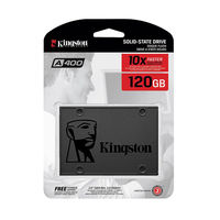 "2.5"" SSD 120GB  Kingston A400, SATAIII, Sequential Reads:500 MB/s, Sequential Writes:320 MB/s, 7mm, Controller 2 Channel, NAND TLC"