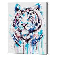 Tigrul în acuarelă, 40х50 cm, pictură pe numere Articol: GX36713