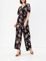 Pantaloni TOM TAILOR Floral negru 1016787 20777