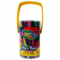 Carioci Fibre Pens 50 buc  Colorino
