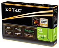 ZOTAC GeForce GT730 4GB DDR3, 128bit, 700/1066Mhz, HDCP, 2x DVI, mini-HDMI, Lite Pack