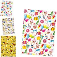 POL-MAK Бумага для упаковки POL-MAK 99.5x68.5см День Рожд. Дети