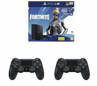 Game Console Sony PlayStation 4 Pro 1TB Black, 2 x Gamepad (Dualshock 4) + Fortnite