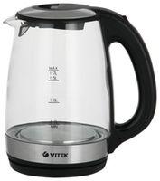 Чайник электрический Vitek VT-7029 TR, 1.7л, 2200Вт, Черный