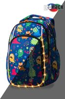 Rucsac CoolPack STRIKE S LED FUNNY MONSTERS(38x28x18)