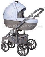Baby Merc Коляска 2-в-1 Bebello B/168A серый/голубой