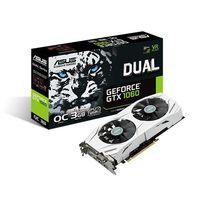 ASUS DUAL-GTX1060-O3G, GeForce GTX1060 3GB GDDR5, 192-bit