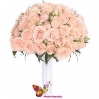купить Нежно- розовый свадебный монобукет в Кишинёве