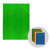 Mapă cu elastic A5 mix golografic carton color