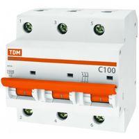 ВА47-100 3Р 100А 10кА C автоматический выключатель TDM