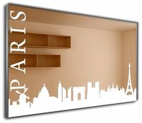 J-Mirror Paris 80x50 Aluminium Frame