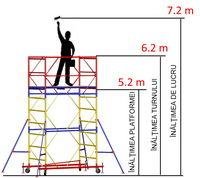 купить Передвижная модульная вышка ВСР (0,7x2,0) 1+4 в Кишинёве