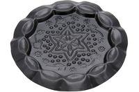 купить Подставка-тарелка декоративная черная чеканка D11.5cm в Кишинёве