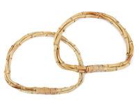 Mânere din bambus împletite pentru geantă, 15x19 cm