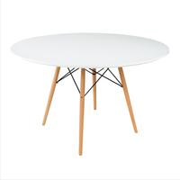 купить Круглый стол из МДФ и деревянными ножками 880x880 мм в Кишинёве