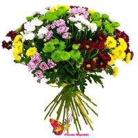 """cumpără Buchetul """"Chrysanthemum Santini amestec multi-colorat"""" în Chișinău"""