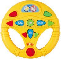 """Baby Mix PL-150391Y Музыкальная обучающая игрушка """"Руль"""" жёлтый"""