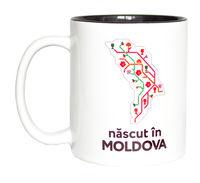 купить Кружка в черном оформлении – născut in Moldova в Кишинёве
