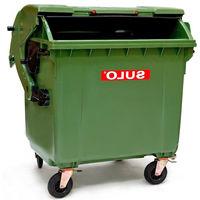 купить Контейнер для мусора 1100 л, зеленый в Кишинёве