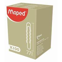 MAPED Скрепки MAPED округлые волнистые 77мм, 100 штук