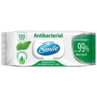 Smile влажные салфетки Антибактериальные, 100 штк