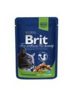 Brit Premium Cat Pouches Chicken Slices for Sterilised (Кусочки c курицей. Влажный корм класса премиум для кастрированных котов и стерилизованных кошек)