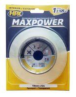 купить Лента  двухсторонняя прозрачная 19mm x 5 m Maxpower HT1905 в Кишинёве