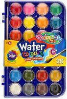 Акварельные  краски 28 цв +кисточка Colorino