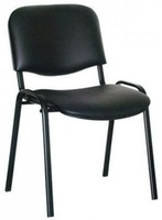 Art Metal Furniture ISO black, piele