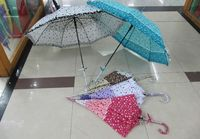 купить Зонт-трость женский трехцветный с оборкой в Кишинёве