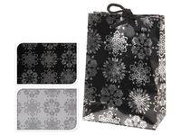 """купить Пакет подарочный """"Снежинки серебряные"""" 16X11.5X6cm в Кишинёве"""