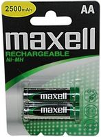 MAXELL Rechargeable Battery NI-MH R06/ AA  2300mAh, 2pcs, Blister pack