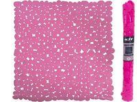 Коврик для душа 53X53cm MSV Galets розовый, PVC