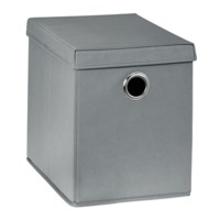 Бокс с крышкой для хранения 260x385x320 mm, серый