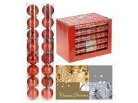 Набор шаров 8X50mm, красные (мат/глянц), в тубе