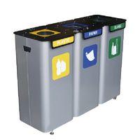 купить Контейнер для мусора 3 шт x 70L + вставки в Кишинёве