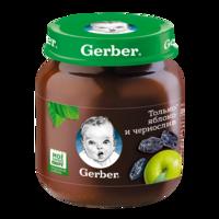 Pireu Gerber de măr și prună (6+ luni), 130g