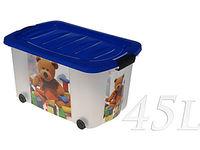 cumpără Container pentru pastrare,pe rotile, 60X38X30cm, 45l în Chișinău