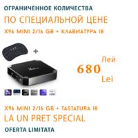 X96 mini. 2 Гб / 16 Гб + Беспроводная клавиатура /Многофункциональная Смарт ТВ приставка/