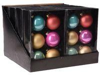 Set globuri 6X65mm, multicolore, in cutie