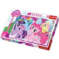 "BS 14182 Trefl Puzzles-""24 Maxi"" - Frendship is a magic / Hasbro My Little Ponny"