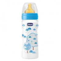 Chicco Biberon cu tetină latex Well Being Boy, 330ml