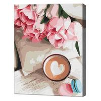 Cacao pentru iubită, 40х50 cm, pictură pe numere  BS51325