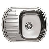 купить Мойка кухонная нержавеющая 0,8мм (decor)49/63 см прав4963 R в Кишинёве