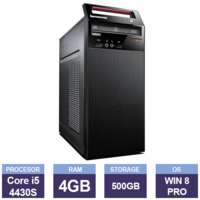 Настольный компьютер Lenovo ThinkCentre E73 (134512) (i5-4430S | 4 GB | 500 GB | Tower  | Windows 8 Pro)